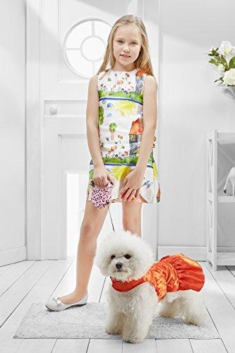 [Small Dog Cute Dress for Yorkie Pom Chihuahua Papillon Lhasa Apso Mini Dachshund (Medium Size, red)] (Mini Dachshund Halloween Costumes)