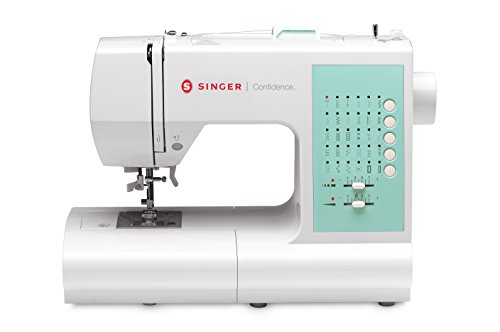 SINGER 7363 Confidence 30-Stitch Electronic Portable Sewing Machine with Drop & Sew Bobbin System