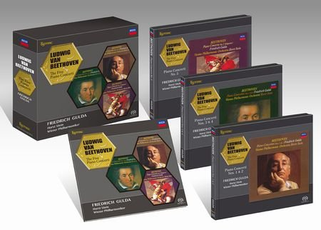 Gulda: The Five Piano Concerti, ESOTERIC SACD/CD Hybrid ESSD-90102-04 Triple CD Box Set Brand New, Sealed JAPAN