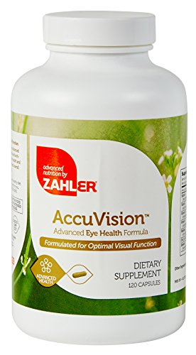 Cheap Zahler AccuVision, All-Natural EYE Health Supplement Containing LUTEIN and BILBERRY, Optimal and Potent VISION Support Formula, Certified Kosher, 120 Capsules