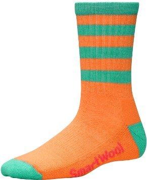 SmartWool Women's Stripe Hike Medium Crew Socks, Berry/Tangerine, Medium