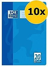 Oxford - Cuaderno (A4, diseño 20, en blanco, 32 hojas, lote de 10 unidades)
