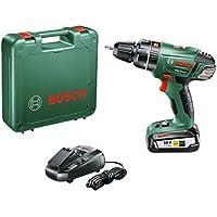 """Bosch Perceuse-visseuse à percussion """"Expert"""" sans fil PSB 18 Li-2, coffret 1 batterie 18V 2,5 Ah, technologie Syneon 060398230B"""