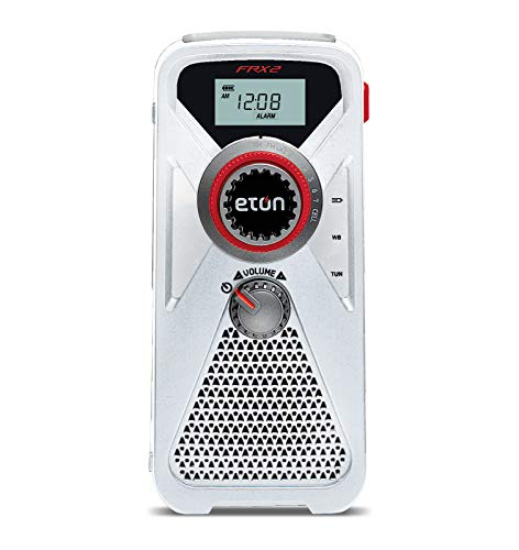 strong Eton Hand Turbine AM/FM/NOAA Weather Radio with USB Smartphone Charger and LED Flashlight