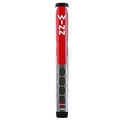 Winn Pro X 1.32-Inch Putter Grip, Red/Gray