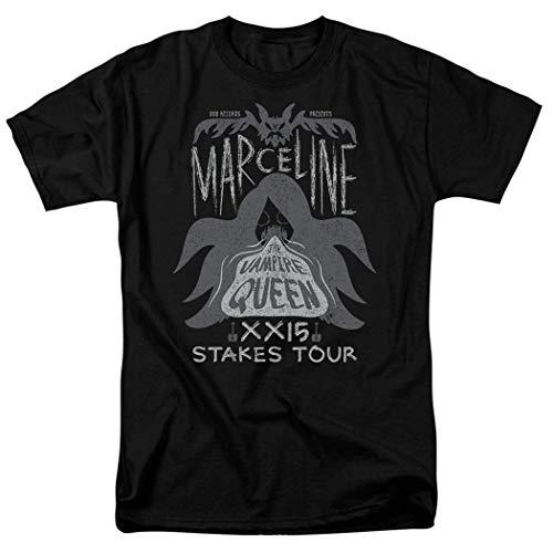 Adventure Time Marceline Concert Cartoon Network T Shirt & Stickers (Medium) Black