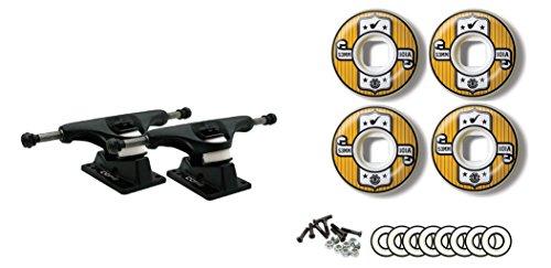ジャニスの有料コアブラックTrucks要素53 mm 101 a Representホイールベアリングパッケージ