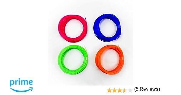 Pack de 4 muestras de filamento flexible y elástico TPU FilaFlex 82A de Recreus para impresora 3D. 1.75 mm. 200 gr. Sample Pack 5 con 4 colores de 50 ...