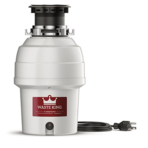 (Waste King L-3200 Garbage Disposal with Power Cord, 3/4 HP)