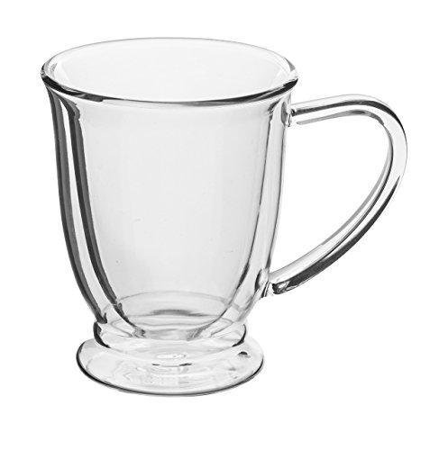 Double-wall 9.5 oz Borosilicate Glass  Coffee/Tea Mug Cup (Set of 4)