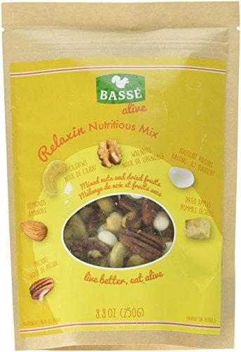 Yogurt Covered Cashews - Relaxin Nutritious Trail Mix from Basse Alive, 8.8oz Bag with Pecans, Dried Apples, Yogurt Raisins, Almonds, Cashews, Walnuts & More, Trail Mix with Great Calories from Yogurt Raisins, Pecan Nutrition
