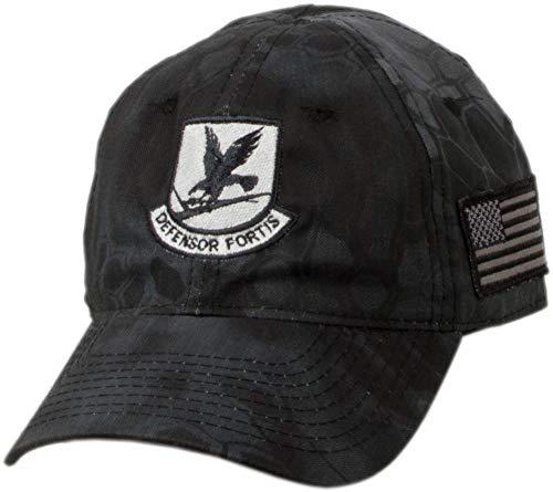 Military Shirts USAF Security Forces Emblem Kryptek Camo Cap (Gray)