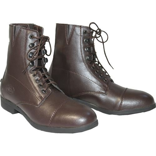 - New Devonaire Kids Child Shoes Boot North Park Lace Paddock - Brown