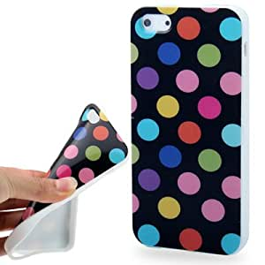 Dot Pattern Smooth TPU Case for iPhone 5 & 5S (Black)