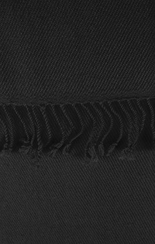 Elegant Soft Luxurious Pashmina Cashmere Wrap shawl stole From Peach Couture (Black)