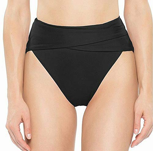 Becca by Rebecca Virtue Women's Color Code Wrap High-Waisted Black Medium (Bikini Waist Wrap High)