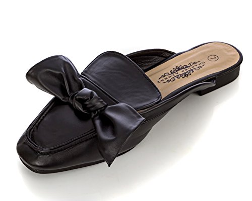 Bow Mule (Charles Albert Women's Comfortable Slip-On Mule With Bow Design In Black Size: 7)