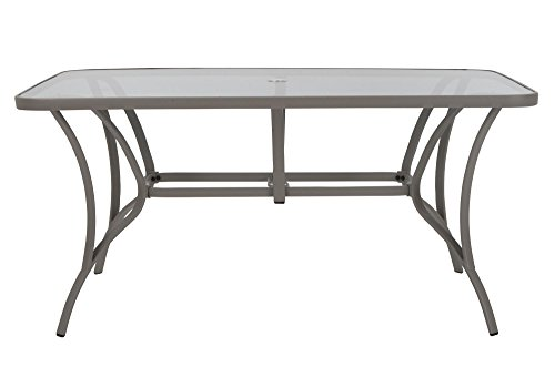 Cosco Outdoor Living 88646BGPE Paloma Dining Table, Light, Gray by Cosco Outdoor Living