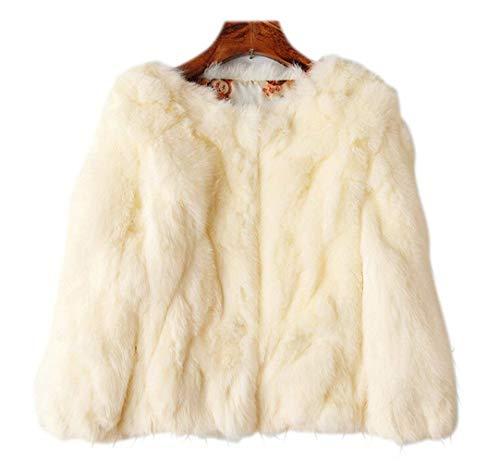 4 Stile Manica Morbidi Cute Donna Puro Outerwear Chic Eleganti Party Finta Colore Invernali Giacca Casual Beige Cappotto Corto 3 Pelliccia Fashion Eleganza Accogliente Ox8xnqRpZ