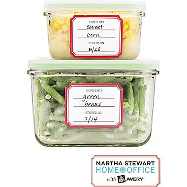 Pre-Printed Kitchen Labels, 1 3/4in x 2 1/4in, 24 labels- Martha Stewart Home Office with Avery