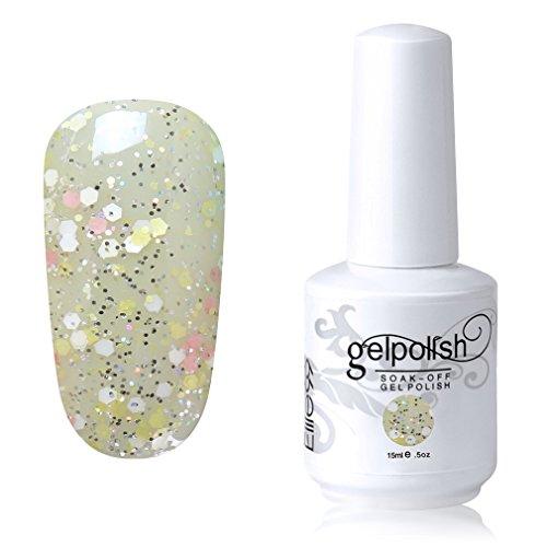 Elite99 Soak-off Gel Polish Lacquer Nail Art UV LED Manicure Varnish 15ml Glitter Mellow Yellow 1062 Mellow Yellow Lamp