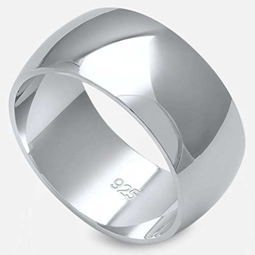 Oxford Diamond Co Solid Sterling Silver Womens Mens Unisex Wedding Band Ring Comfort 2-10mm Sizes 2-16 Colors Available