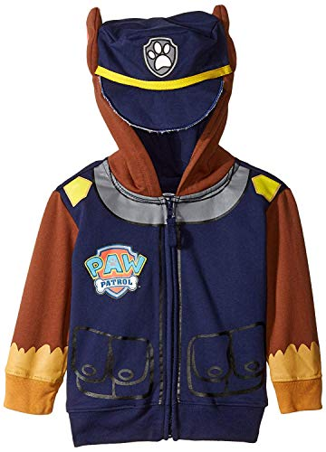 Nickelodeon Little Boys' Paw Patrol Chase Toddler Costume Hoodie, Navy, 3T]()