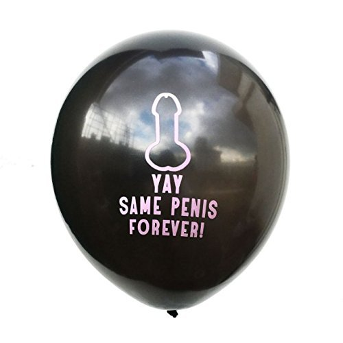 20 Pcs Black 12 inches Latex Giant Big Large Inflatable Party Penis Balloon Poster Novelty Toys Favor Games Kit Set