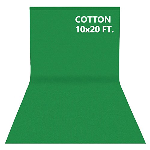 10x20FT Photography Video Studio 100% Pure Cotton Muslin Collapsible Photo Backdrop Background- Green