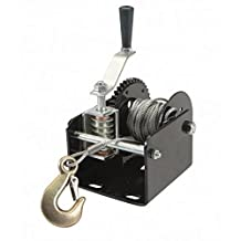 1 Ton Capacity Worm Gear Hand Winch from TNM by Haul Master