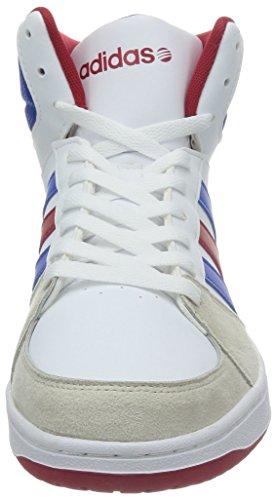 adidas Neo Vlhoops Mid Ftwwht/Blue/Powred, Color Blanco, Talla 7,5
