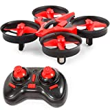 B bangcool 5 Year Old Boy Gifts Mini Drone for Kids RC Nano Quadcopter 2.4G 6 Axis with Altitude Hold Function, Headless Mode Remote Control Best Drone for Beginners & Kids(Red