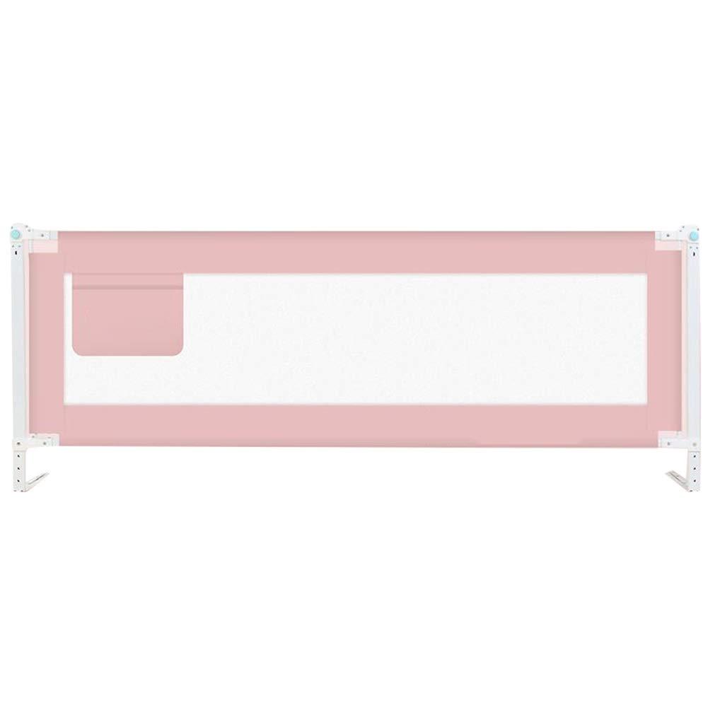 WHAIYAO ベッドレール 子フェンス折りたたみ式パネル8速調整可能な高さおもちゃを収納できます3色2サイズ (Color : Pink, Size : 150X85CM) 150X85CM Pink B07TNQ96JS