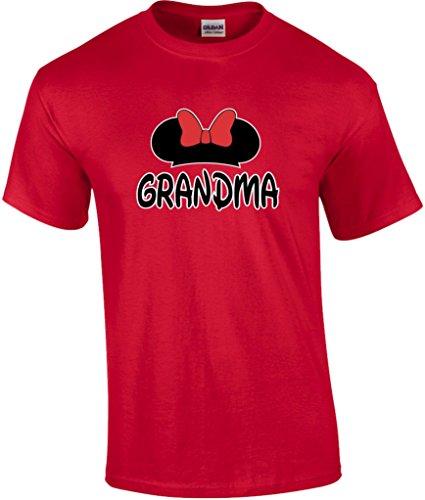 Mickey Dad Minnie Mom Disney FAMILY Vacation BIRTHDAY Matching Tshirts 2XL Grandma Unisex-Red