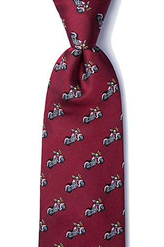 Alynn Novelty Red Silk Ties - 1