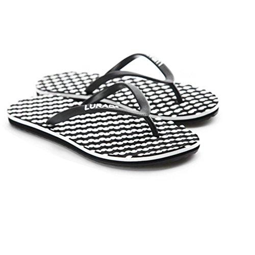 Baymate Mujer Chanclas De Playa Masaje Confort Sandalias Playa Zapatos Negro