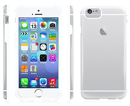 "Iphone 6 (4,7 "") de protection coque bumper avec film de protection d'écran transparent/blanc de chute blanc"