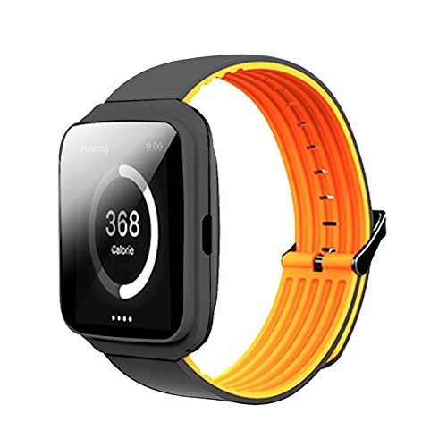(Smart Bracelet Watches, Unisex Bluetooth Calling Fitness Tracker Heart Rate Monitor Smart Wrist Watch - Orange)
