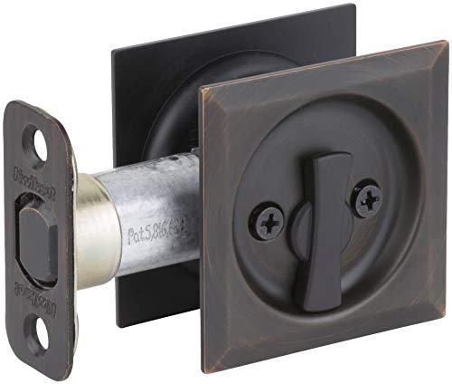 Kwikset 335SQT-11P Square Privacy Bed/Bath Pocket Door Lock