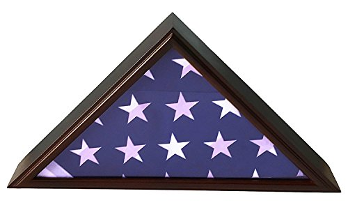 5x9 Burial/Funeral/Veteran Flag Elegant Display Case, Solid