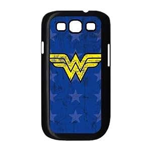 Wonder Woman Emblem Samsung Galaxy S3 9300 Cell Phone Case Black DIY TOY xxy002_858346
