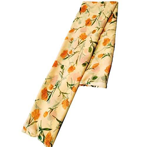 shagun sarees Peach Daily & Casual wear Chiffon Saree for Women