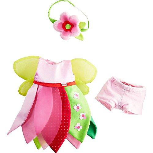 HABA Flower Fairy 3 Piece Dress Set with Underpants & Headband - Fits 12 Dolls