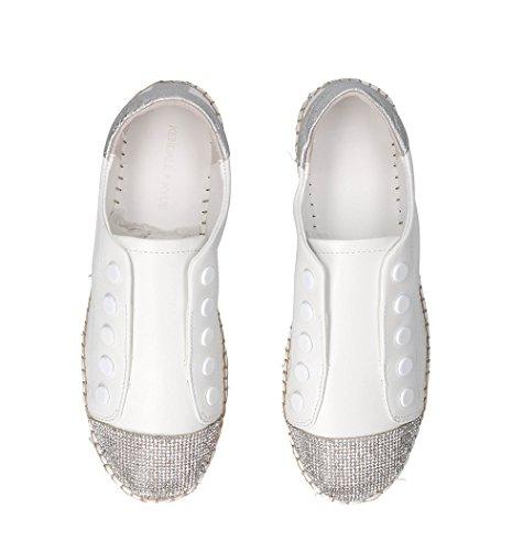 Blanco Mujer Cuero Espadrillas Kendall Kylie Kkjuniper203 q6txnYU