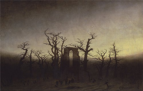 [Oil Painting 'Caspar David Friedrich Abtei Im Eichwald', 24 x 38 inch / 61 x 95 cm , on High Definition HD canvas prints is for Gifts And Kitchen, Nursery And Powder Room Decoration,] (Im The Pope Costume)