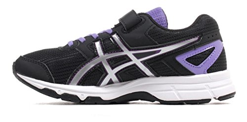 ASICS Pre Galaxy 8 PS Junior Zapatillas Para Correr - SS16 Negro / Lila / Plata