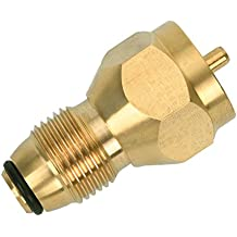 GASSAF Universal Propane Tank gas grill Refill Adapter Regulator Valve Accessory for Throwaway Disposable Bottle or 1 lb Cylinder Tanks- 100% Solid Brass, by
