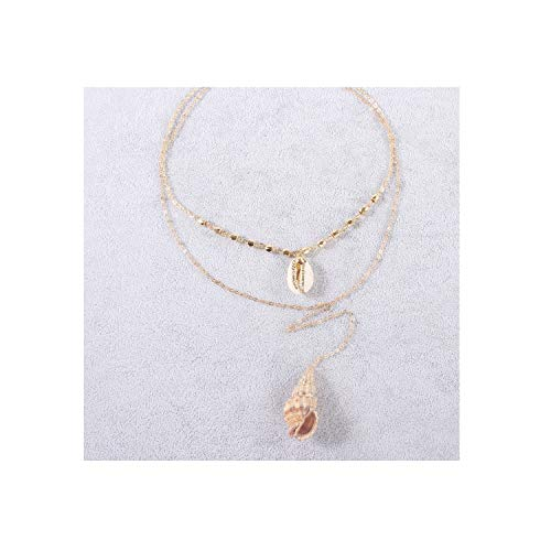 Vintage Bead Shell for Women Coin Sequin Pendant Necklace Imitation Pearl Statement,Antique Bronze Plated