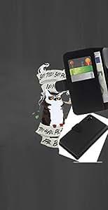 LECELL--Cuero de la tarjeta la carpeta del tirón Smartphone Slots Protección Holder For Sony Xperia Z3 D6603 -- Consejos Búho --