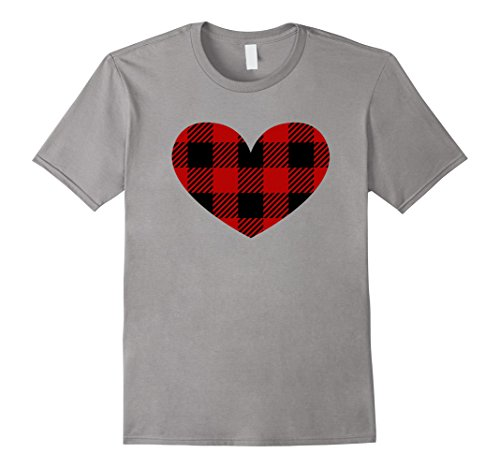 Plaid Heart Sibling Twins Matching Valentine's Day T-Shirt